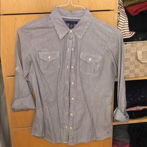 Tommy Hilfiger striped button down with pockets
